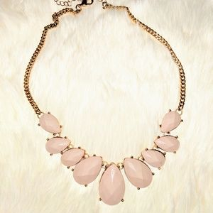 Lavender and Gold Centerpiece Necklace